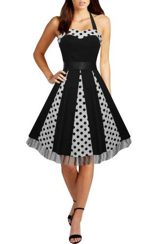 Black Butterfly 'Ivy' 50's Polka Dot Swing Dress (Black Dots, US 4) Black Butterfly Clothing http://smile.amazon.com/dp/B009JBKWJ0/ref=cm_sw_r_pi_dp_SBdJvb0578EEB