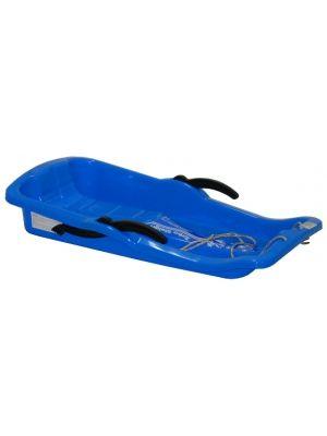 CAMICCO 80cm Niebieskie plastikowe sanki z hamulcem  • wymiary sanek - dł/szer/wys - 80/43/14 cm • sanki plastikowe, bobslej z hamulcem • wsznurek do ciągnięcia • wygodne i wytrzymałe