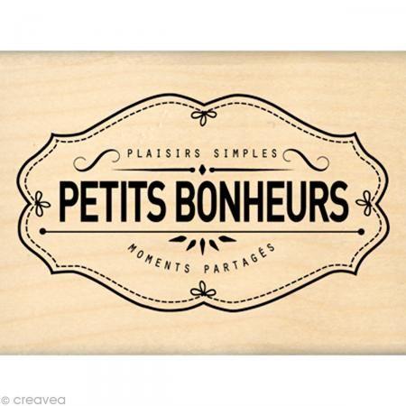 Tampon Border line - Plaisirs Bonheurs Moments 6 x 8 cm