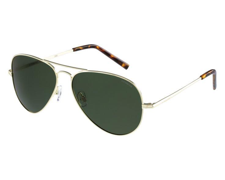 Lunettes de soleil Polaroid - Monture or clair - havane clair / Verres gris vert polarisés 53euros