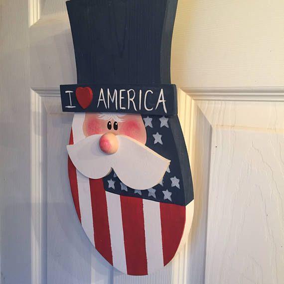 I Love America Uncle Sam wall decor