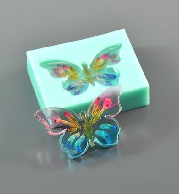Butterfly silicone resin shaker mold