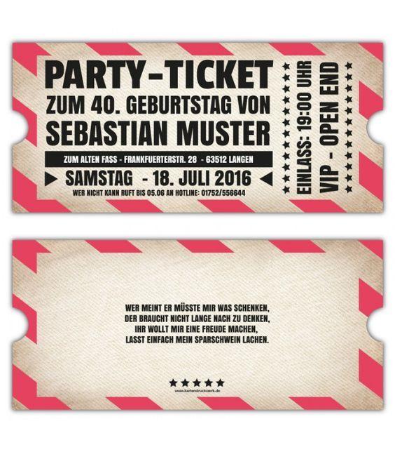VIP Einladungskarten Party Originelle Einladung  Ticket Eintrittskarte  Vintage