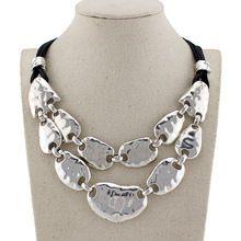 El diseño único 2014 nueva moda de joyería de plata de época gargantilla de aleación collar