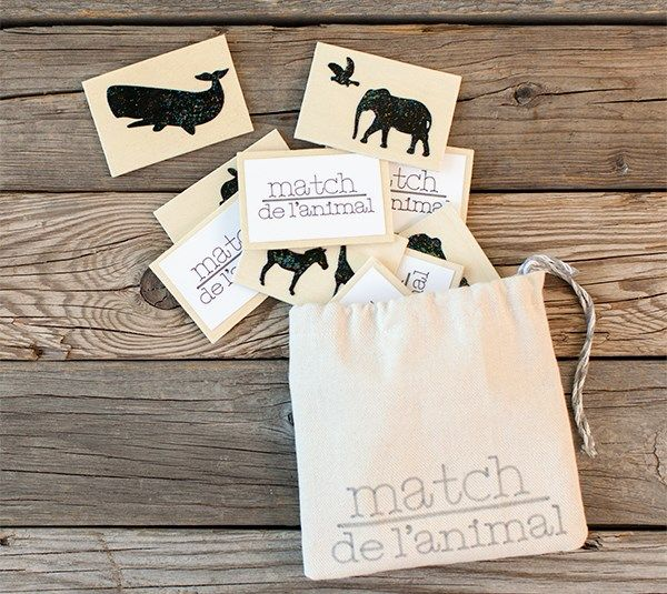 Embossed Animal Match Game. Make It Now with the Cricut Explore machine and Cuttlebug in Cricut Design Space.