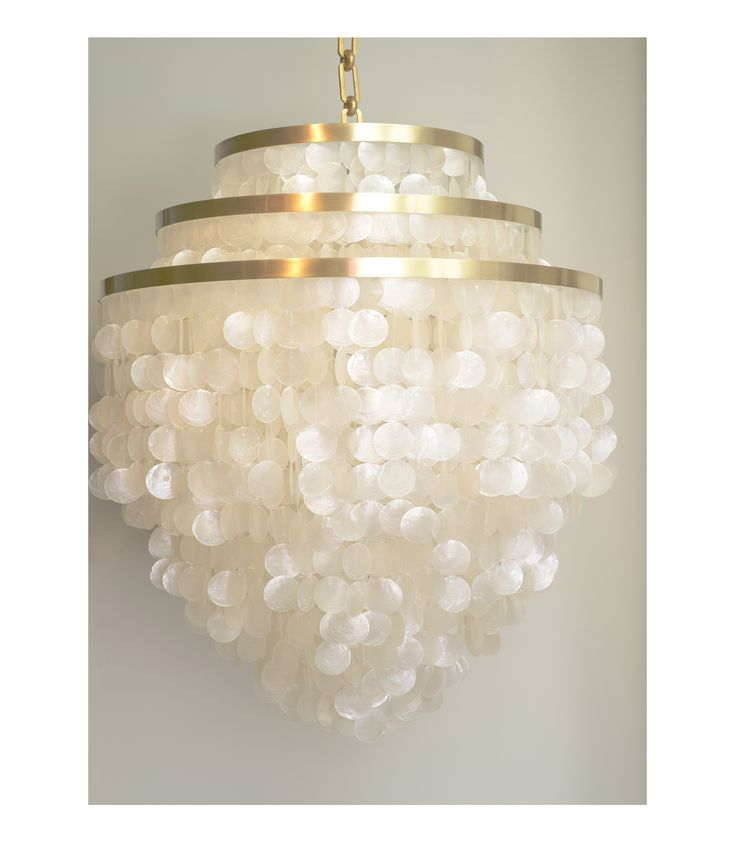 The luxury version of the capiz chandelier - Lily @ Bespoke Global