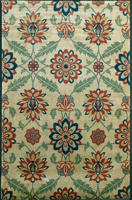 Mughal silk velvet fragment.