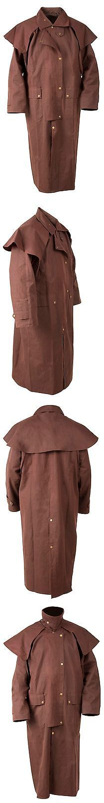 Other Rider Clothing 3167: 4Xl Western Cowboy Oilskin Duster Outback Mens Duster Coat Drover Jacket Brown -> BUY IT NOW ONLY: $85.49 on eBay!