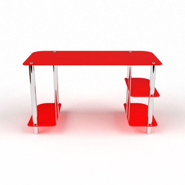 Компьютерный стол Альтаир стекло, стеклянные компьютерные столы, цены от…
