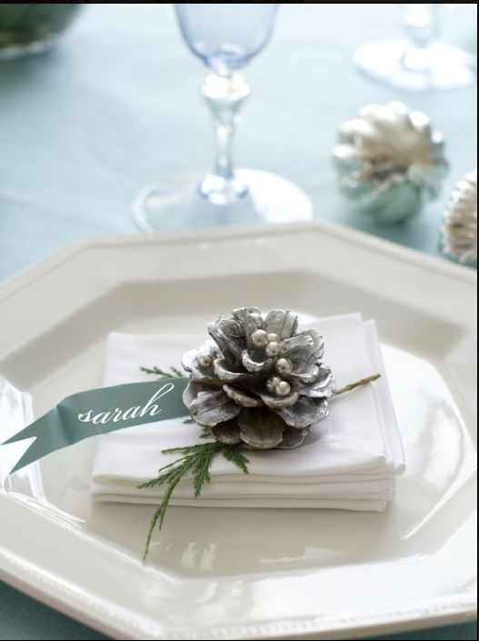 Sweet & simple holiday place card