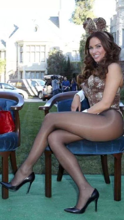 Right! playboy bunnies wear two pairs of pantyhose