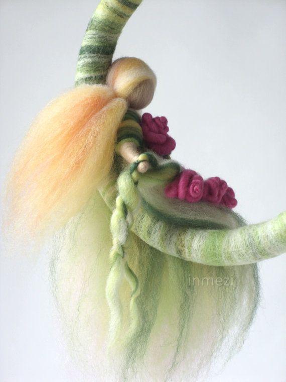 OOAK Wool Fairy with Pink Rose Garland in Wreath by inmeziTOYS, $38.50-https://www.etsy.com/treasury/OTI3NDI1OXwyNzIxNjcxNzg3/lilac-spring?ref=pr_treasury