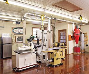 See the dust collection systems and setups from America's top shops. Then, see what ideas you can incorporate into your own shop.