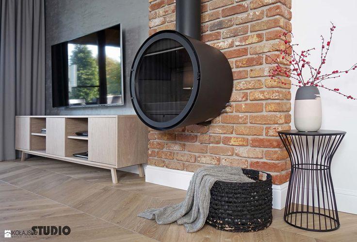 mieszkanie, detal-kominek, cegla - zdjęcie od MIKOŁAJSKAstudio - Salon - Styl Rustykalny - MIKOŁAJSKAstudio