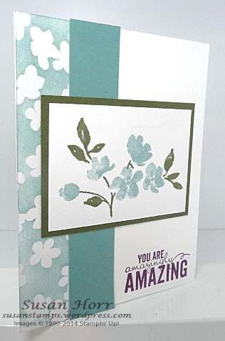 Painted Petals, Irresistibly Yours, 2014 Occasions Catalog, 2015 SAB, Stampin Up, susanstamps.wordpress.com