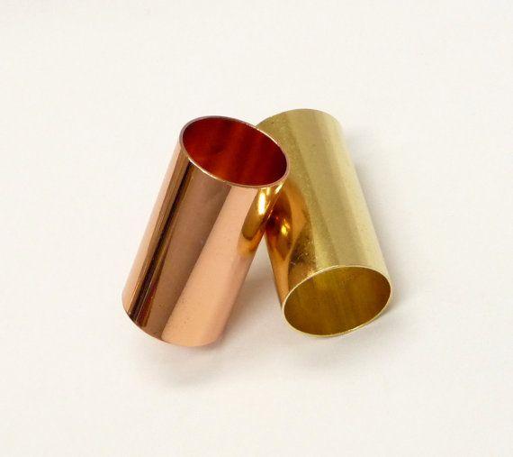 A brass/copper hair tube a hair findings hair by artstudio88