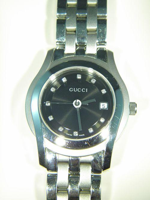 Gucci G Class Ladies Watch featuring a Black Diamond Dot Dial - Pawnbank