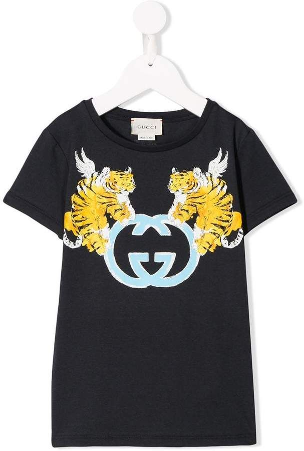 9416ab7d8 Gucci Kids Winger Tiger T-shirt in 2019 | GUCCI GANG | Gucci shirts ...