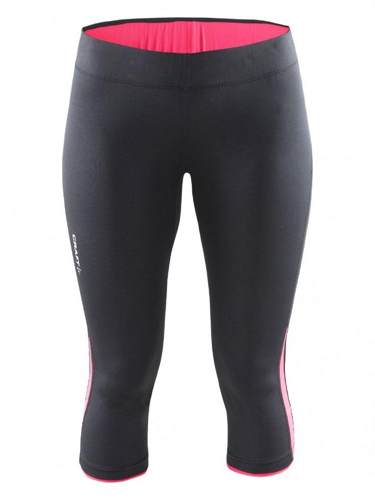 Craft Spodenki do biegania 3/4 Prime Capri black/pink   MALL.PL