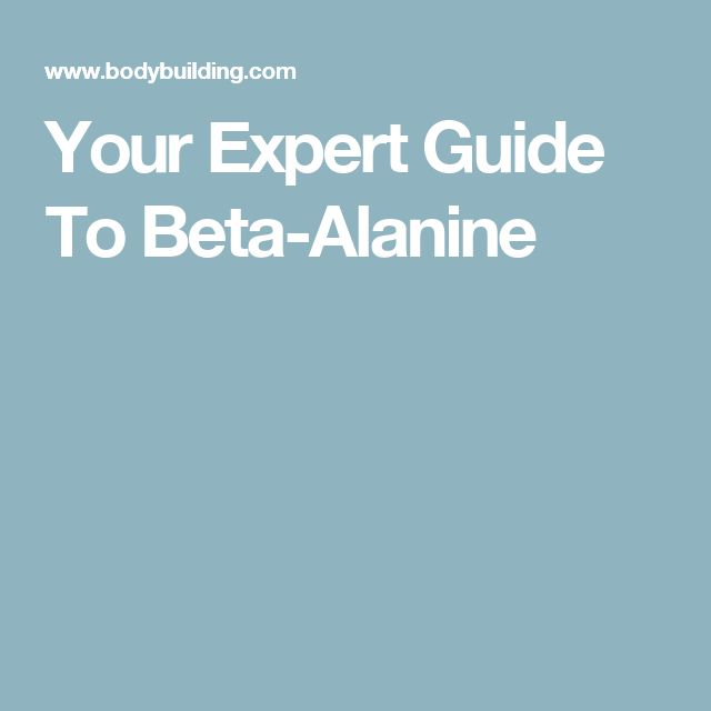 Your Expert Guide To Beta-Alanine