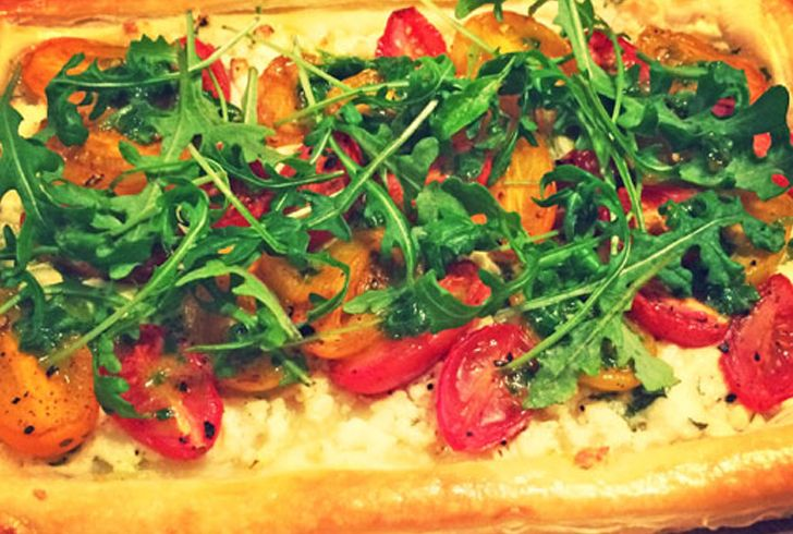Tomato and Feta Tart with Rocket | Today Pastry