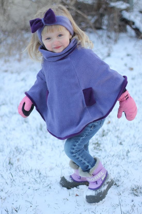 17 Best Ideas About Fleece Poncho On Pinterest Sewing