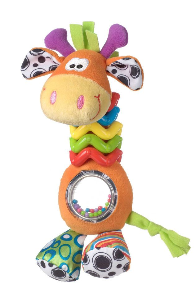 Playgro Bead Buddy Stuffed Giraffe Toy