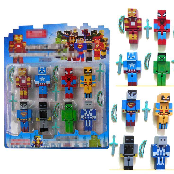 340 besten action toy figures bilder auf pinterest - Minecraft dekoration ...