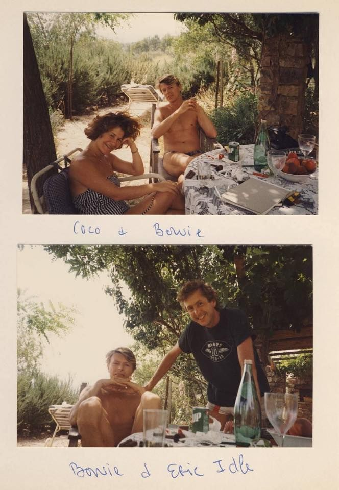 Bowie on hols with Coco and Eric Idle