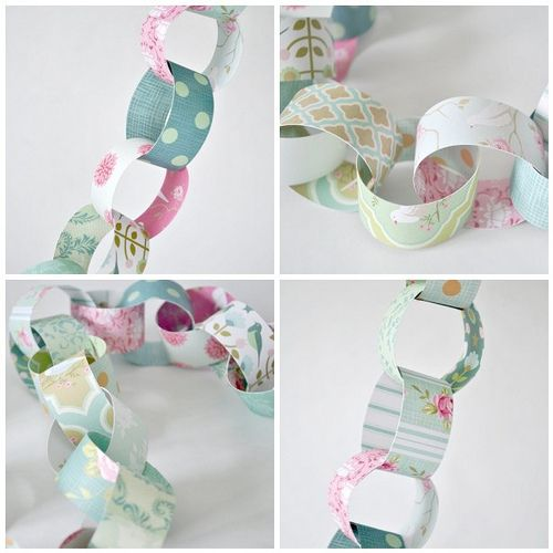 Lovely paper chain garland