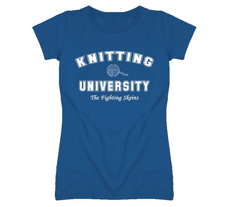 Knitting University Knitting Tshirt