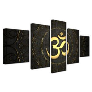 Ganesha Om Hindu Symbol 5pcs Painting Printed Canvas Wall Art Home Decorative #1
