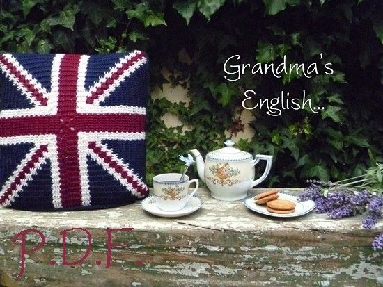 Union Jack cushion in Crochet, love!