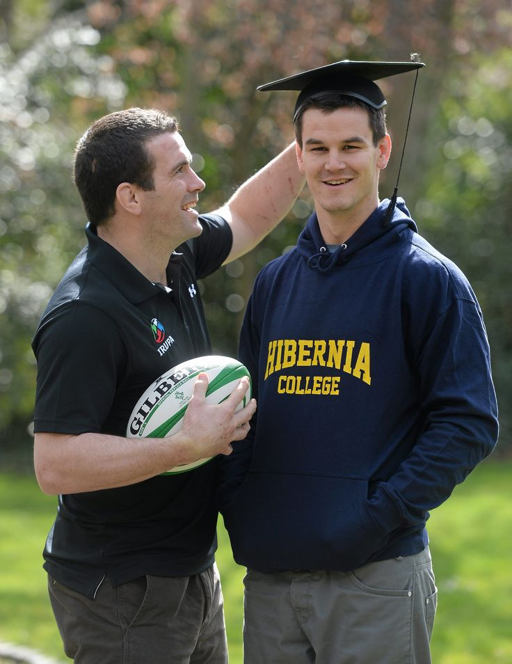 Leinster IRUPA Rep Shane Jennings and IRUPA Chairman Jonny Sexton announce Hibernia College as partner to the 2013 IRUPA Awards.