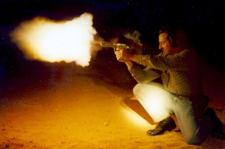 """ Action Express Flash A Desert Eagle chambered in the massive .50 Action Express, producing a muzzle flash that would put many rifles to shame. I know most of gunblr is quick to point out trigger discipline, but in this case the safety issue here is..."