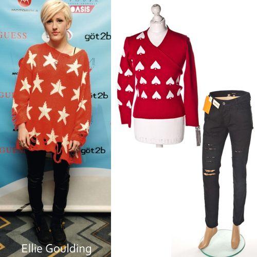 Ellie #Goulding. Propozycja #Wzorcownia: Sweter #Vitaly , Spodnie rurki #Diesel #dress4less