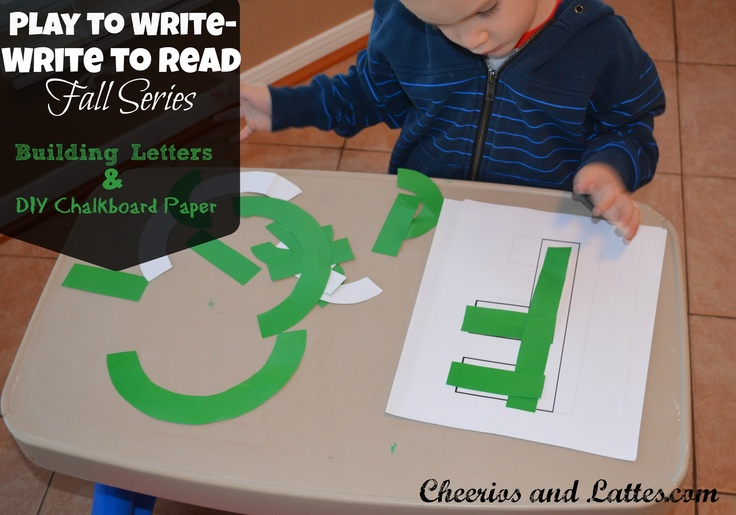 Play to Write-Write to Read from Cheerios & Lattes