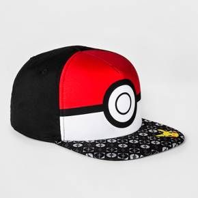 Boys' Pokémon Pokeball Baseball Hat - Red/White : Target