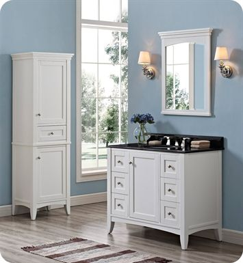 1512-v42 | Fairmont Designs Shaker Americana 42 inch Vanity in Polar White MAYBE for Emmy's bath