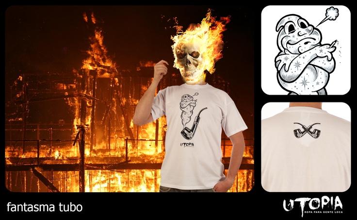 http://www.facebook.com/UtopiaLux  Unusual tshirt design.  #night #rider #tshirt #fire #flames #pipe #design #lookbook #sick #funny #utopia #smoking #marihuana #joint