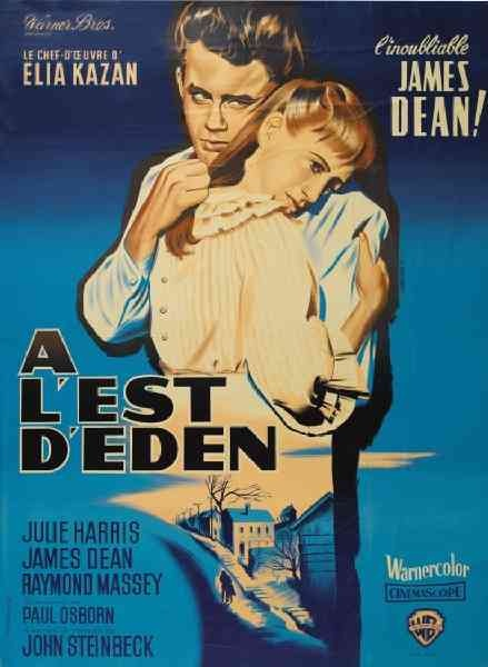 "MP747. ""East of Eden"" French Movie Poster by Jean Mascii (Elia Kazan 1955) / #Movieposter"