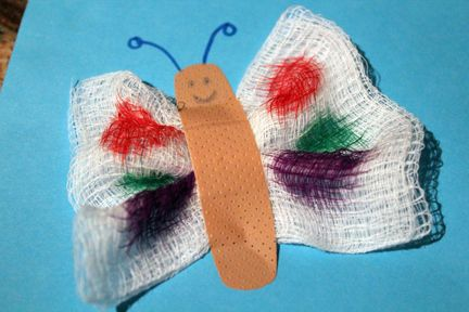 Medical play: first aid butterflies