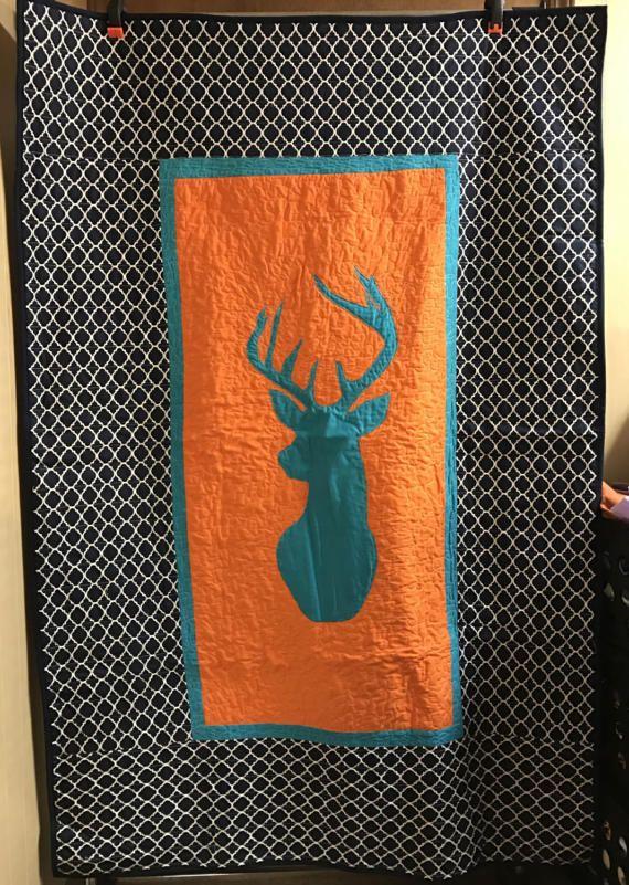 Homemade quilt for sale Deer quilt Toddler bedding Woodland
