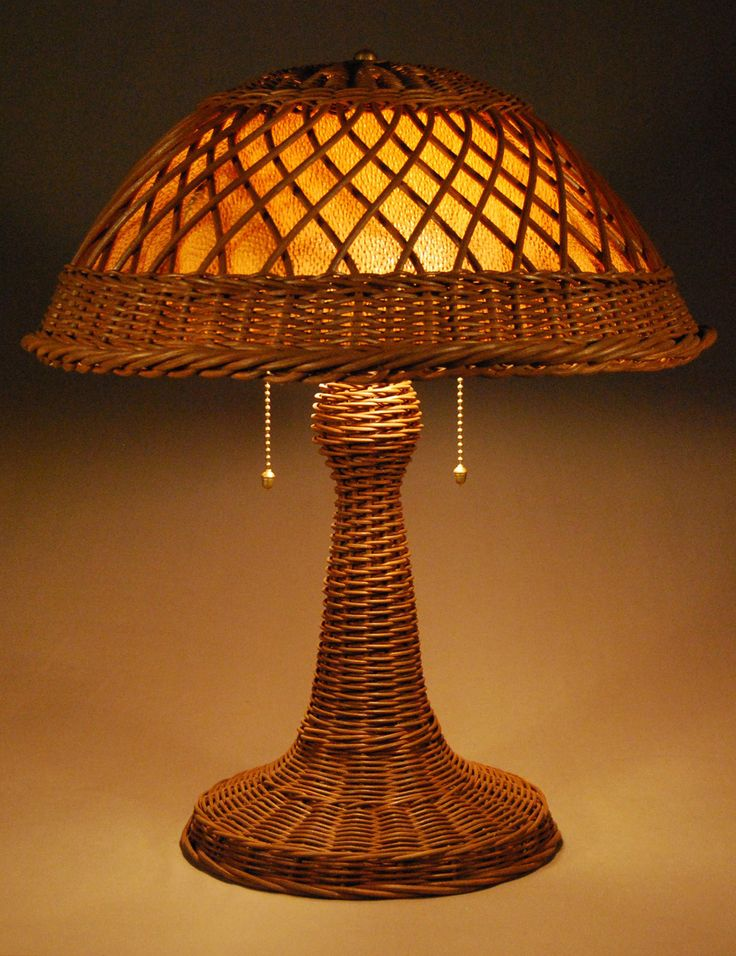 Silver Bay Wicker Studio - Wicker Lamp