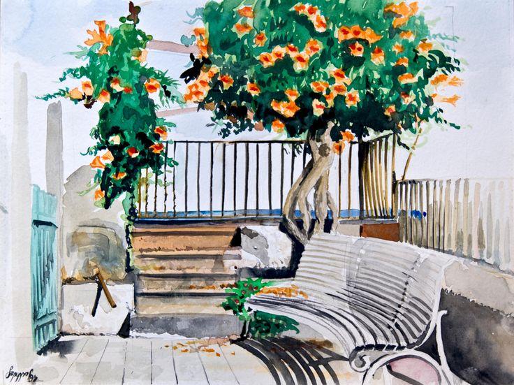 San Giovanni li Cuti #watercolor #sangiovannilicuti