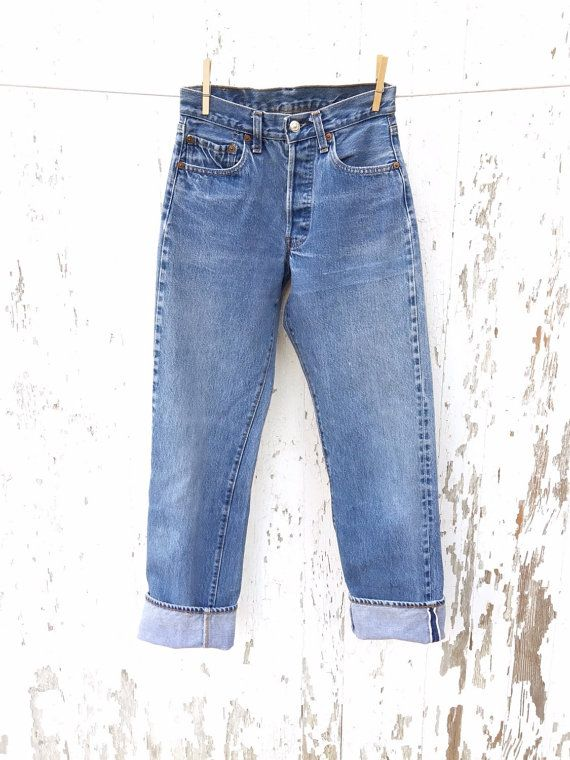 LEVIS 501 Jeans 25 Waist Redline by HuntedFinds on Etsy
