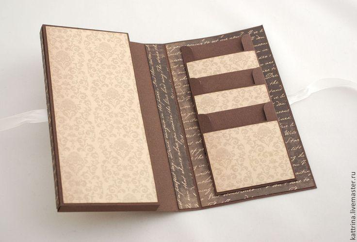 Соловьем разбойником, открытка шоколадница с кармашками для чая