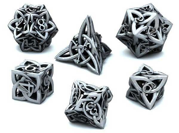 This Celtic dice set will take your role-playing games to the next level