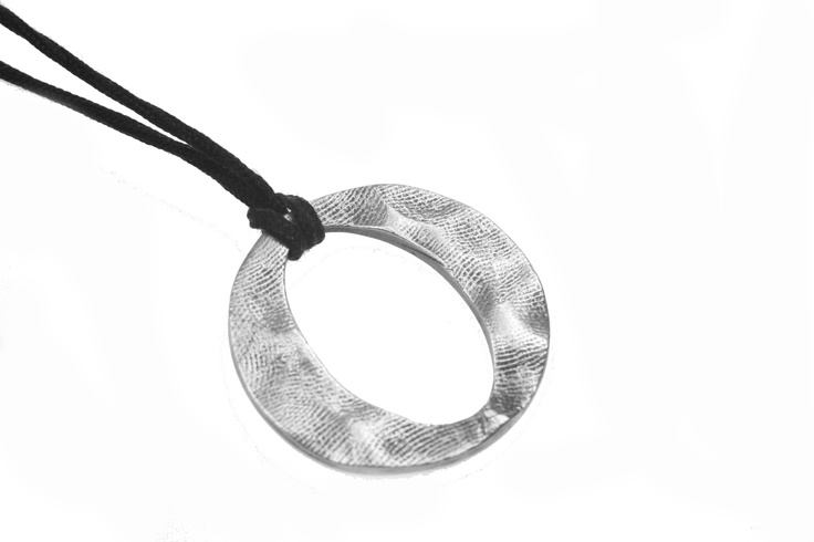 Tender Touch pendant on leather by Smallprint. www.smallprint.co.za