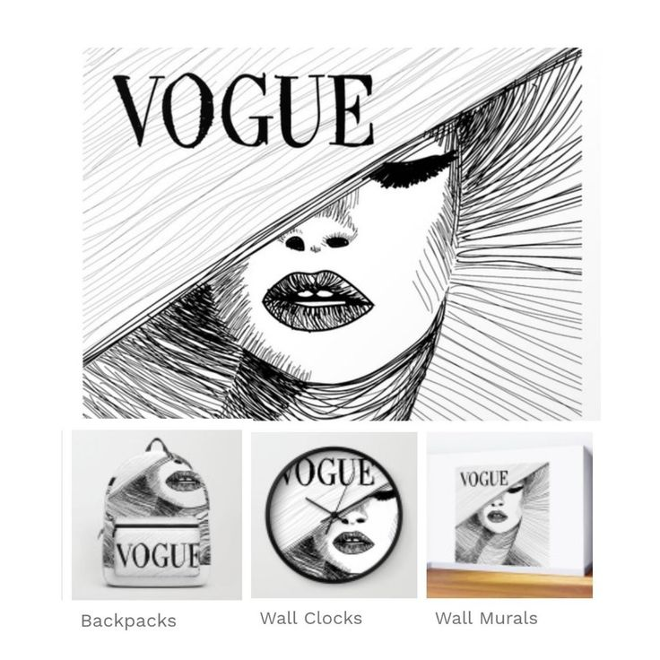 Audrey Hepburn in Vogue Cover #illustration #audrey #hepburn @society6 #art #style #decor